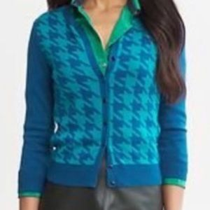 Banana Republic blue houndstooth cardigan